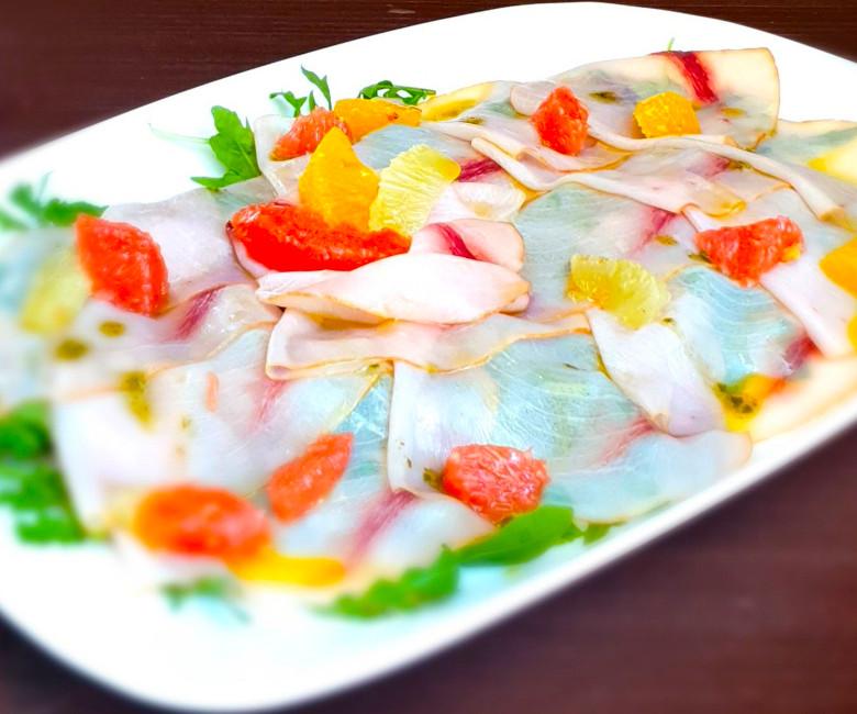 carpacio pesce spada agrumi